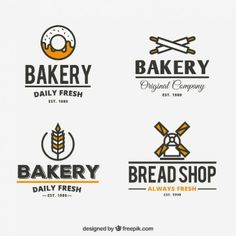 Retro bakery logos
