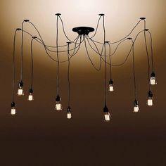 Warehouse Of Tiffany Chandelier Ceiling Lights -Black