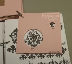 """SillyLeAnn Designs: My Process and How My Organization Reflects It ~ her """"little books"""" are excellent organizers of craft inventory and time savers for making projects!"""