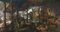 Bruegel to Rubens: Masters of Flemish Painting: Winter: The interior of a barn, ca. 1618