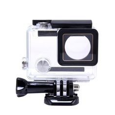 Pacuwi Replacement Waterproof Case Protective Housing Cover with Bracket for GoPro Hero4, 3+, 3 Outside Sport Camera
