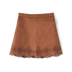 Argyle Pattern Openwork Solid Color Skirt (210 UAH) ❤ liked on Polyvore featuring skirts, brown skirt and argyle skirt