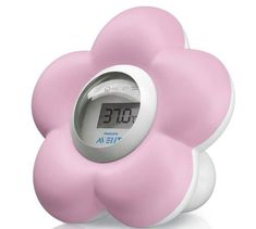 The Philips AVENT pink flower baby bath and room thermometer provides a convenient way to monitor the temperature in a baby's room or bath. It can also be used as a fun bath toy. Avent Baby Products, Pink Lila, Pink Baths, Best Bath, Baby List, Bath Toys, Baby Health, Baby Safety, Shopping