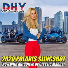 The 2020 is coming! Whether you choose the all-new or classic manual, you're guaranteed to turn heads! Order today at Polaris Slingshot, Used Motorcycles, Manual, Classic, Derby, Textbook, Classical Music