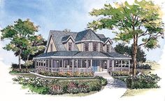 House Plan 99286 | Farmhouse  Victorian    Plan with 1895 Sq. Ft., 3 Bedrooms, 3 Bathrooms