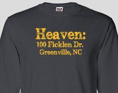 East Carolina University Heaven Long Sleeve T-shirt, Pirates, Dowdy–Ficklen…