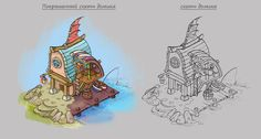 ArtStation - Sketches of houses in different styles, Yulia Starkova