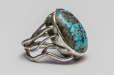 Floral handmade silver ring with turquoise. Silver Jewellery, Jewelery, Silver Rings Handmade, Gemstone Rings, Turquoise, Gemstones, Floral, Design, Jewlery