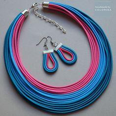 COLORIKA jewellery, Multi strand necklaces Multi strand colourful jewelry set