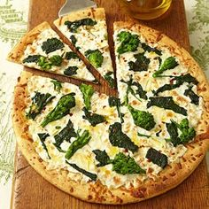 Broccoli and Mozzarella Pizza