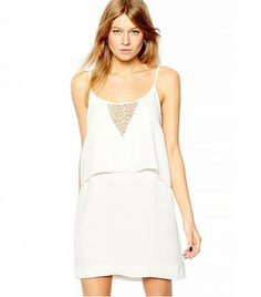 @Who What Wear - Mango Double Tier Cami Dress ($48) in Cream  Now this is what you wear on a second date.