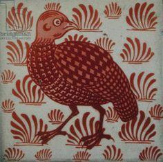 Tile with partridge design (ceramic) Creator     Morgan, William De (1839-1917)