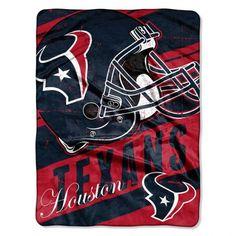 "Houston Texans 46"" x 60"" Micro Raschel Throw Blanket - Rolled - Deep Slant"