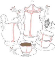 High Tea always helps when spirits are low . . .