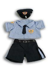 "Police Uniform Outfit Teddy Bear Clothes Fits Most 14"" - 18"" Build-a-bear, Vermont Teddy Bears, and Make Your Own Stuffed Animals"