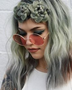 The succulent trend has taken over social media - braid your hair into beautiful blooms that symbolize nature in all its vibrant color #hairstyle
