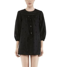 Marc Jacobs Spaced Broderie Anglaise Cotton Poplin Dress