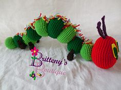 Hungry Caterpillar - free crochet pattern by Britteny's Boutique