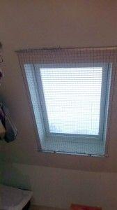 Das Katzennetz System für Dachfenster im geschlossenen Zustand