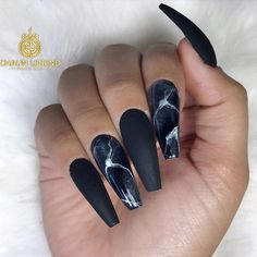 24 Ideas with Long Nails for Different Shapes ★ Long Nails of the Coffin Shape Picture 4 ★ See more: http://glaminati.com/long-nails/ #longnails #naildesign
