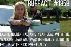 Damn.. season 8 PLUS her and Rick were going to be a thing... Glen Mazzara FUCKED everything up. (old show runner) #TWD #TheWalkingDead #WalkingDead