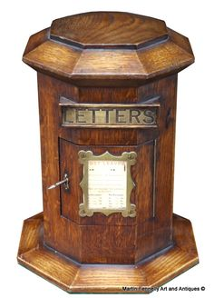 Octagonal Oak Country House Post Letters Pillar Box - Curious and Rare Item this one - Read more on the Website - Thanks - http://www.fennelly.net/Antiques/Newest%20Listings%20-%20Art%20and%20Antique%20Gallery%20Dublin/478%20Octagonal%20Oak%20Country%20House%20Post%20Letters%20Pillar%20Box.aspx