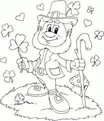 St. Patrick's Day Leprechaun coloring page