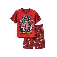 Boys 6-12 Minecraft 2-Piece Pajama Set, Boy's, Size: 12, Multicolor