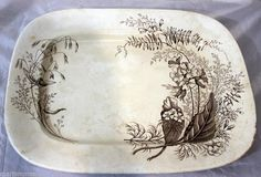 """Antique Ashworth Brothers Aesthetic Victoria 15"""" Serving Platter Tray Vintage"""