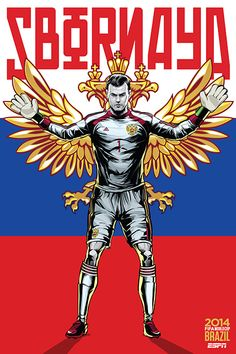 "Russia, Россия, Sbornaya, ""the Red Team"", Igor Akinfeev, FIFA World Cup Brazil 2014"