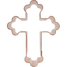 Fancy cross copper cookie cutter. Available in 4 sizes from www.CopperGifts.com