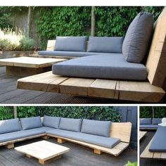 Great and beautiful outdoor patio and garden furniture brings comfort and function to the outdoor area. Possessing a spacious table and easy to use comfortable chairs in your patio can easily make a lots of Outdoor Sofa, Outdoor Seating, Outdoor Rooms, Outdoor Living, Outdoor Decor, Sofa Area Externa, Banco Exterior, Cheap Benches, Deck Furniture