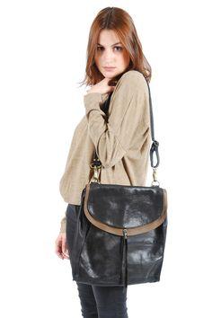 Shoptiques — Bicolor Double Strap Shoulder Bag