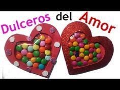 Dulceros de Corazón en Foami o Goma Eva   Manualidades para San Valentín - YouTube