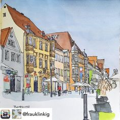 Repost from @frauklinkig - One of the first sprigdays with warmth and sun we spent by visiting Bayreuth. In the pedestrian area I found a…