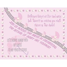 Customizable Baby Shower Invite For A Long Distance Virtual Baby