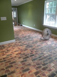 brick flooring pavers for kitchen floors | Brick-A-Floor Pavers in Country Mix