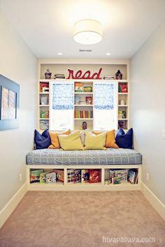 This is my fave! Reading Nook or Corner Space for Kids at Hiya Papaya via lilblueboo.com