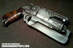 Custom Nerf Hammershot in Steel by JohnsonArms.deviantart.com on @deviantART