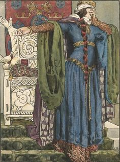 Eleanor Fortescue-Brickdale (English artist) 1872 - 1945 Lady Macbeth, 1901 illustration Birmingham Central Library, United Kingdom  Illustration for the Archibald Constable editions of Shakespeare, 1901
