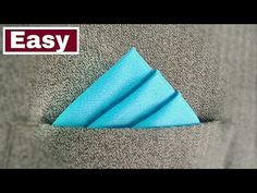 How To Fold a Pocket Square - Three Stairs Fold - YouTube