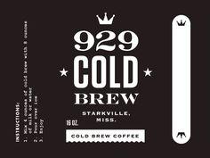 929 Coldbrew Coffee Label by Ben Couvillion