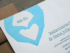 Oh So Beautiful Paper: Silhouette Wedding Invitations