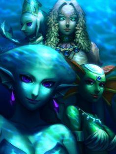 Sage Laruto (The Wind Waker) Queen Rutella (Twlight Princess) Princess Ruto (Ocarina of TIme) Queen Oren (A Link Between Worlds)