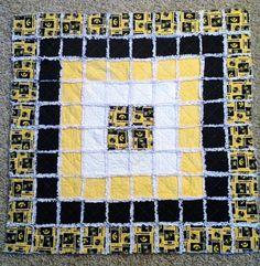 University of Iowa Hawkeye Rag Quilt