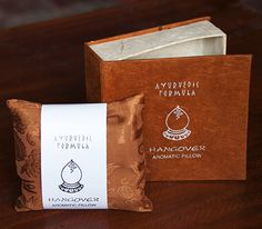 Hangover Pillow  Because we've all been there and needed some help to cure headaches, purify polluted minds, and restore strength.  http://earthbeats.ca/product/hangover-pillow/