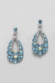 Mina Earrings in Austrian Crystal. Love these! CW