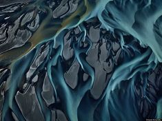 Thjorsá River Iceland, Photo by Edward Burtynsky. Finds cool ways to make landscape into a design. Water Photography, Abstract Photography, Aerial Photography, Landscape Photography, Levitation Photography, Experimental Photography, Exposure Photography, Creative Photography, Photography Ideas
