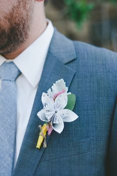 Boutonniere Ideas for Your Music-Loving Groom
