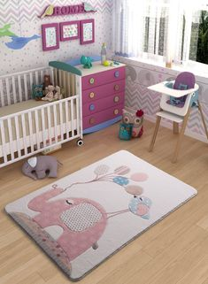 Zoomie Kids Teppich Spotty Elephant Carved Child in Rosa Light Blue Area Rug, White Area Rug, Beige Area Rugs, Natural Area Rugs, Kids Lighting, Pink Rug, Animals For Kids, Cool Rugs, Rugs Online